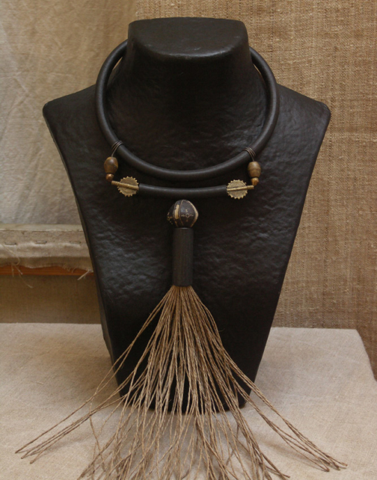 Ethnic necklace with African beads Joyas