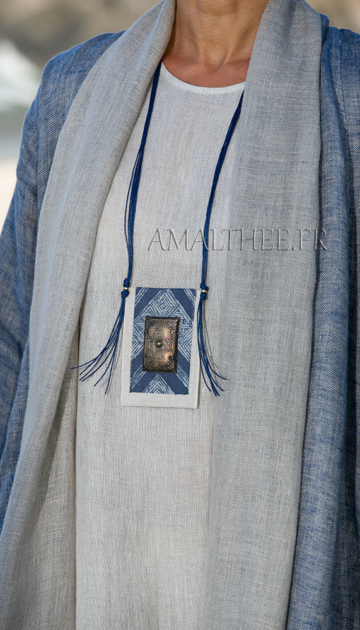 Loose fit blue linen summer coat Joyas